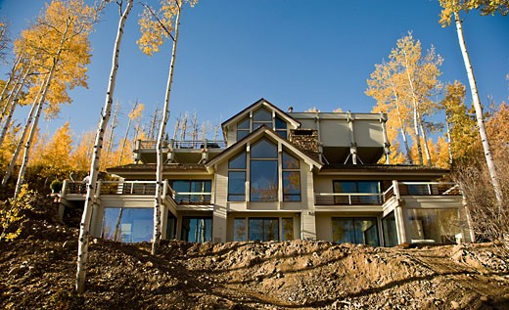 Snowmass village aspen colorado private house interior design fiona cowan. : Stock Photo