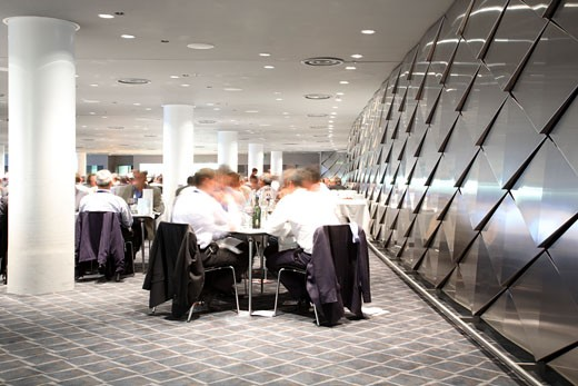 Wembley Stadium, London, United Kingdom, Foster and Partners / Hok Sports Venue Event, Wembley stadium hospitality venues other interior spaces and game night. : Stock Photo