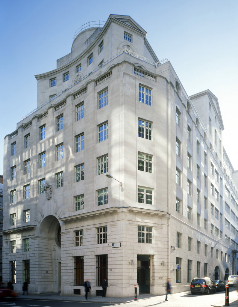83 Fleet Street, London, United Kingdom, Crouch Butler, Commercial office building on fleet street in central london. : Stock Photo