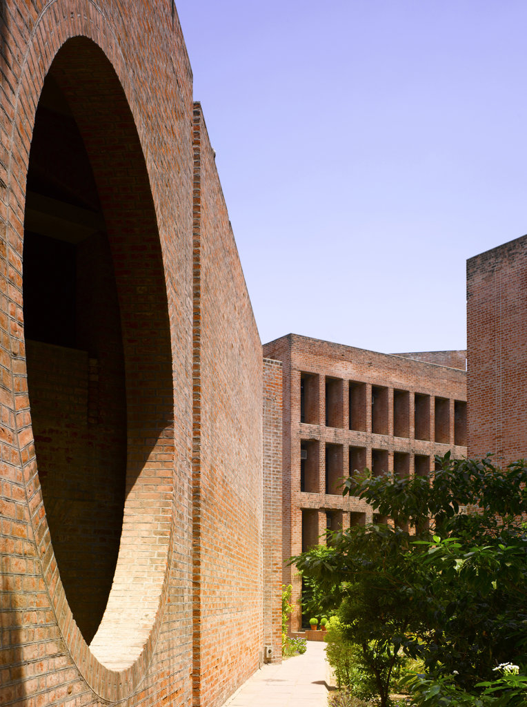 Indian Institute of Management, Ahmedabad, India, Louis Khan, Institute of management- overall view. : Stock Photo