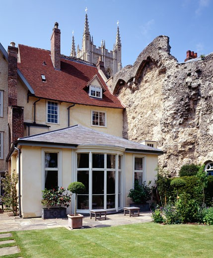 West Front, Bury St. Edmunds, United Kingdom, Nicholas Jacobs Architects, Conservation and renovation of grade I listed west front bury st edmunds. : Stock Photo