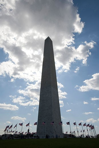 Washington Monument, Washington D.c., United States, Robert Mills, Washington monument washington DC in silhouette. : Stock Photo