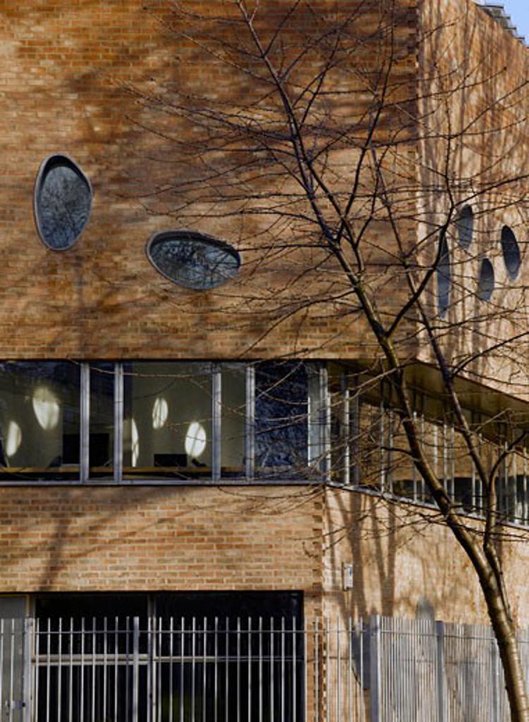 Stock Photo: 1801-43893 Hothouse, London, United Kingdom, Ash Sakula Architects, Hothouse detail of western elevation.