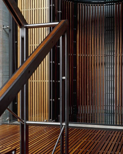 Stock Photo: 1801-44212 Westcliff Estate, Johannesburg, South Africa, Studiomas, Westcliff estate staircase detail.