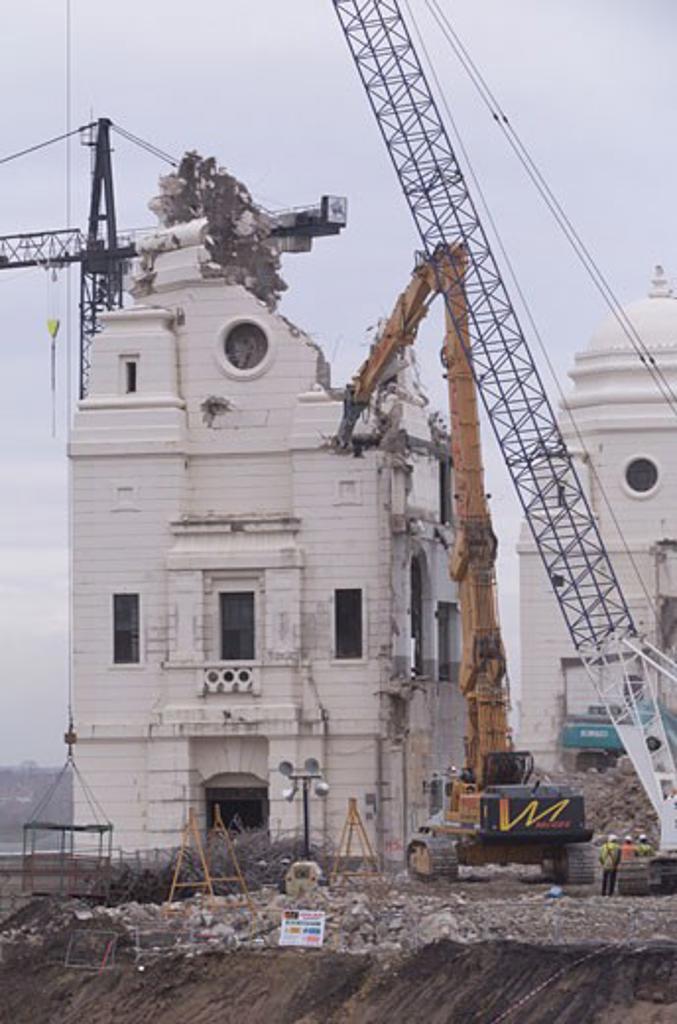 Wembley Stadium Demolition, Wembley, United Kingdom, Architect Unknown, Wembley stadium demoliton. : Stock Photo