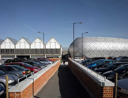 The Arc Shopping Centre, Bury St Edmunds, United Kingdom, Veretec With Michael Hopkins, The arc shopping centre. : Stock Photo