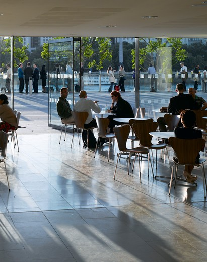 Stock Photo: 1801-47159 Royal Festival Hall, London, United Kingdom, Leslie Martin Robert Matthews Peter Moro and Allies and Morrison Architects, ROYAL FESTIVAL HALL CAFE
