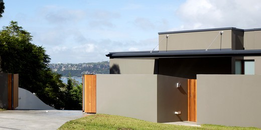 House in Manley Sydney Australia, Sydney, Australia, Assemblage Peter Chivers, House in Manley Sydney Australia by Assemblage - Peter Chivers Architect drive way entrance : Stock Photo