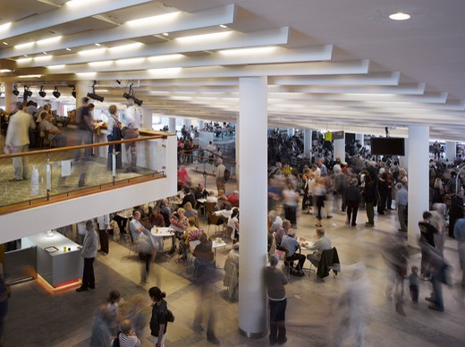 Stock Photo: 1801-47437 Royal Festival Hall, London, United Kingdom, Leslie Martin Robert Matthews Peter Moro and Allies and Morrison Architects, ROYAL FESTIVAL HALL BAR IN FOYER