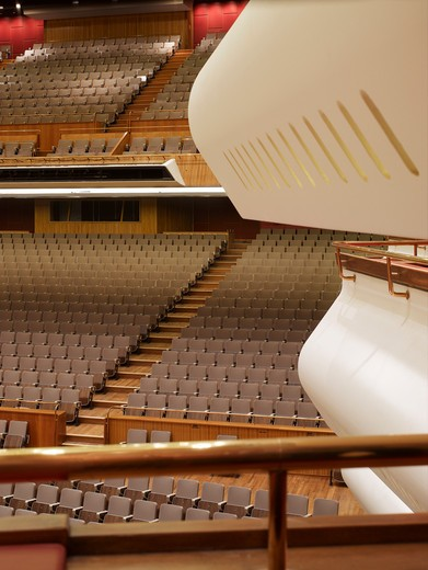 Stock Photo: 1801-47443 Royal Festival Hall, London, United Kingdom, Leslie Martin Robert Matthews Peter Moro and Allies and Morrison Architects, ROYAL FESTIVAL HALL AUDITORIUM WITH BOXES
