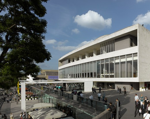 Stock Photo: 1801-47444 Royal Festival Hall, London, United Kingdom, Leslie Martin Robert Matthews Peter Moro and Allies and Morrison Architects, ROYAL FESTIVAL HALL RIVERFRONT VIEW