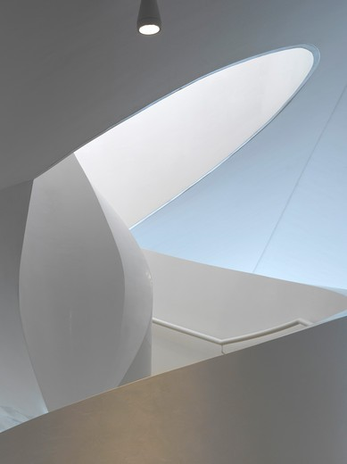 Stock Photo: 1801-47592 Vitra Haus, Weil am Rhein, Germany, Herzog De Meuron, VITRA HAUS STAIRCASE DETAIL