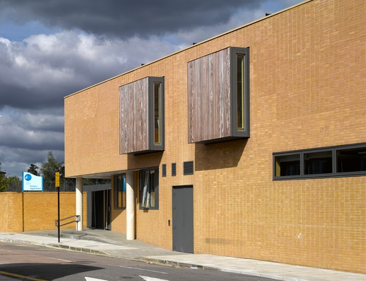 Stock Photo: 1801-47857 St Mary Magdalene Academy, London, United Kingdom, Feilden Clegg Bradley Architects, ST MARY MAGDALENE ACADEMY REAR BUILDINGS