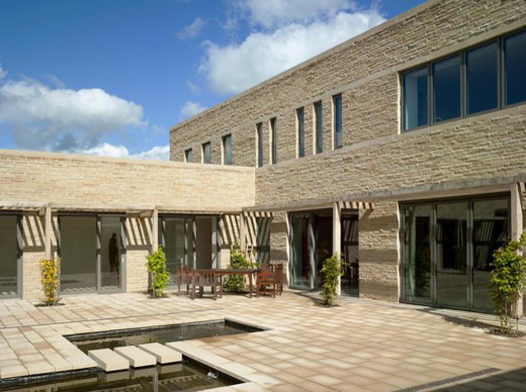Stock Photo: 1801-47903 Stanbrook Abbey, Wass, United Kingdom, Feilden Clegg Bradley Architects, STANBROOK ABBEY BY FEILDEN CLEGG BRADLEY STUDIOS COURTYARD TO NORTH WEST CORNER
