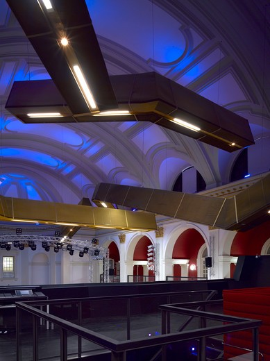 Open Youth Venue, Norwich, United Kingdom, Hudson Architects, OPEN YOUTH CLUB-UPPER LEVEL : Stock Photo