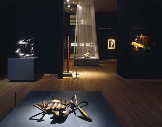 Surrealism Desire Unbound Exhibition Tate Modern, London, United Kingdom, Maccormac Jamieson Prichard, SURREALISM DESIRE UNBOUND EXHIBITION TATE MODERN EROTIC OBJECTS : Stock Photo
