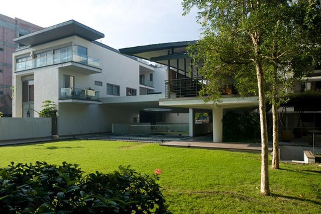 Stock Photo: 1801-50491 Damai Suria, Kuala Lumpur, Malaysia, Eric Parry Architects, VIEW OF RESIDENTIAL BLOCK AT DAMAI SURIA