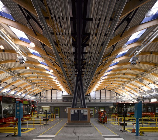 Stock Photo: 1801-51226 Tfl West Ham Bus Garage, West Ham, United Kingdom, Pringle Richards Sharratt