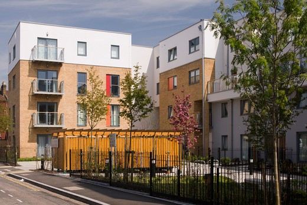 Stock Photo: 1801-51657 Kirchen Road Housing, London, United Kingdom, Pcko Architects
