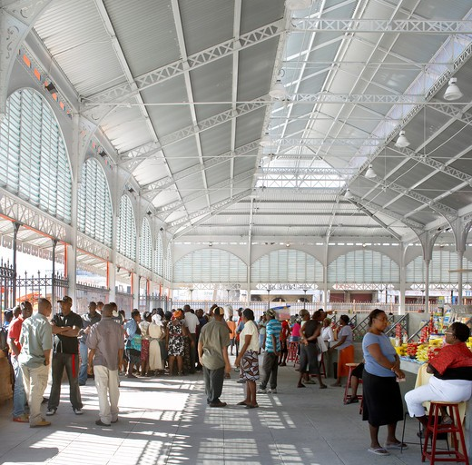 Stock Photo: 1801-52645 The Iron Market  Port-Au-Prince  Haiti   John Mcaslan And Partners  2011  Interior Of Market