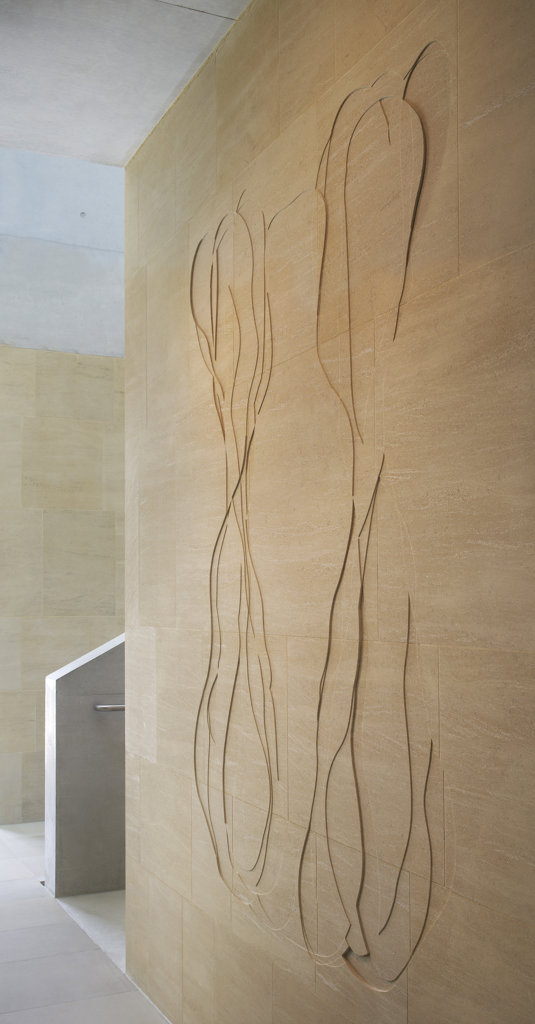Stock Photo: 1801-52813 Sainsbury Laboratory, Stanton Williams, Cambridge 201, View Of Artwork By Susanna Heron