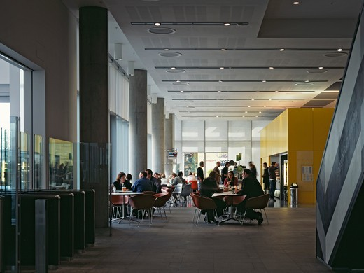 Stock Photo: 1801-53351 Bbc Media Village Broadcast Centre Cafe