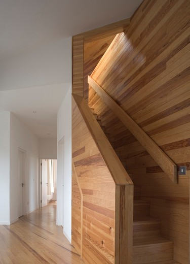 House Donegal Timber Stair : Stock Photo