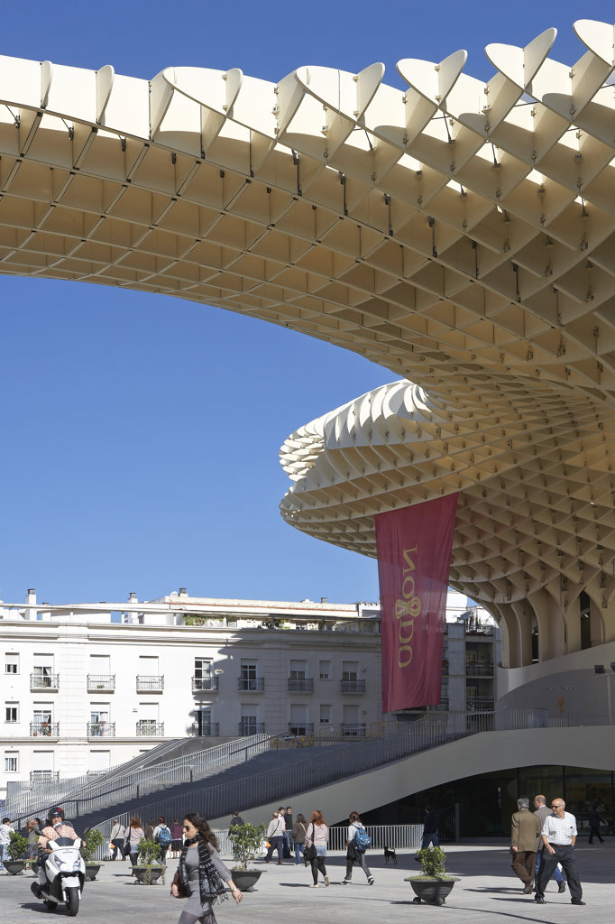 Stock Photo: 1801-53797 Metropol Parasol, Seville, Spain.