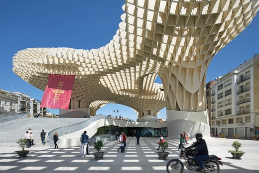 Stock Photo: 1801-53831 Metropol Parasol, Seville, Spain.