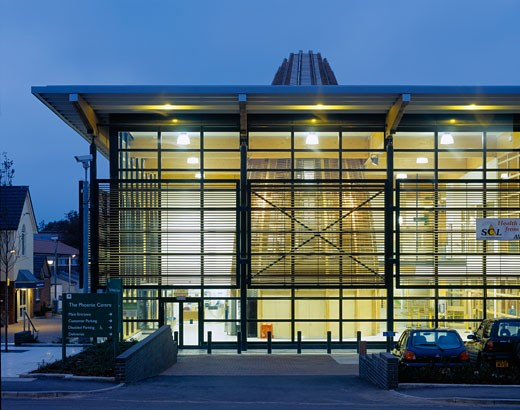 Stock Photo: 1801-5402 PHOENIX CENTRE, MOLLISON DRIVE, WALLINGTON, SURREY, UNITED KINGDOM, EXTERIOR AT NIGHT, BROADWAY MALYAN