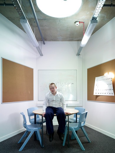 Stock Photo: 1801-54477 Small Study Room With Dillon - Special Needs School In Islington London