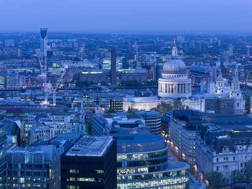 Stock Photo: 1801-54647 Strata Tower Bfls View With St Pauls Cathedral And Skyline 2010