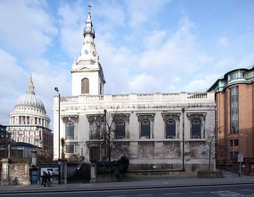 Stock Photo: 1801-55363 City Of London 2010  St. Nicholas Cole Abbey