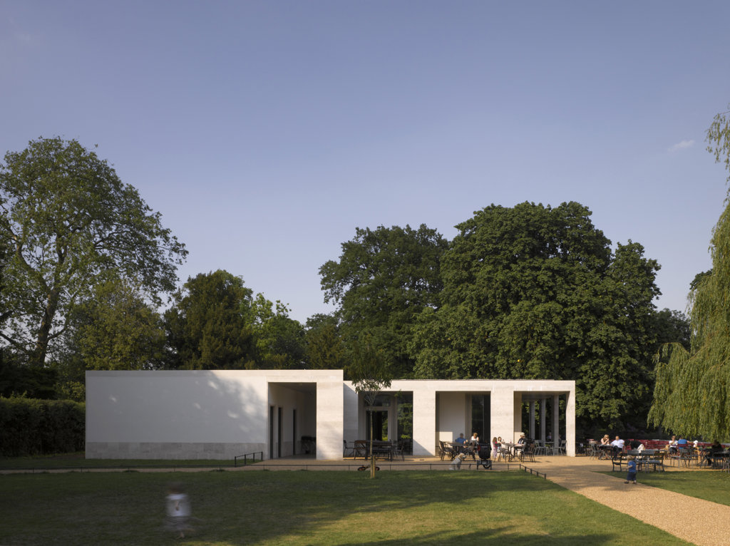 Stock Photo: 1801-56044 Chiswick House Cafe  Caruso St John Architects  Garden View