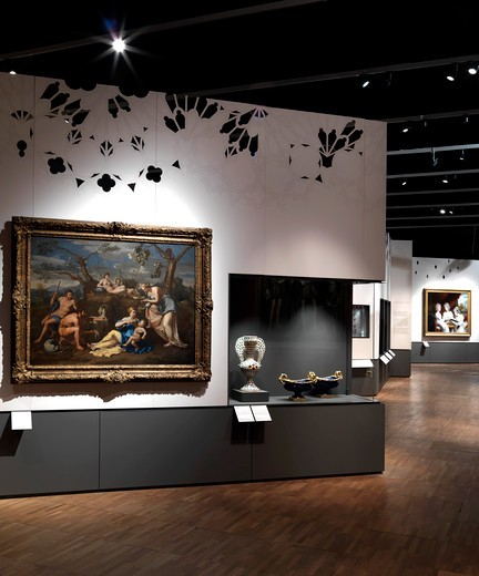 Stock Photo: 1801-56433 Horace Walpole and Strawberry Hill Exhibition At The VandA London Designed By Block Architecture Uk 2010 - View Of Exhibition Wing B