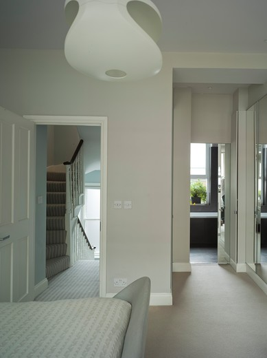 Stock Photo: 1801-56743 Private House,Westarchitecture,Central London,2008  View From Bedroom To Bathroom And Stair