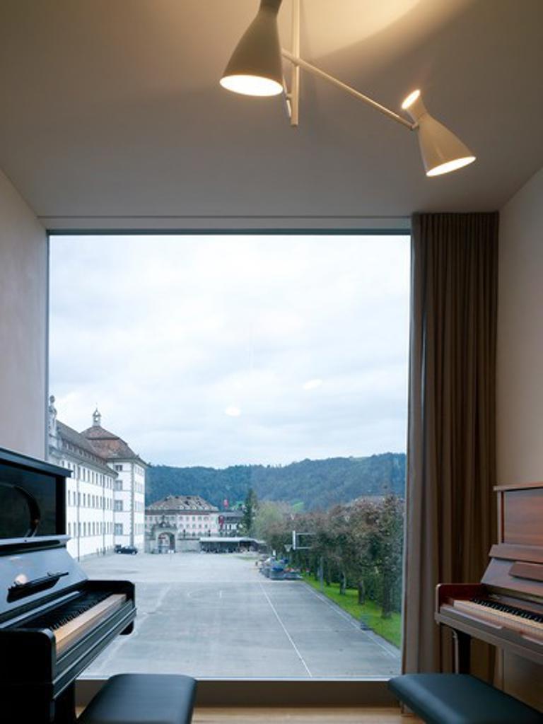 Music School Einsiedeln Monastery Diener , Diener Einsiedeln 2010 Switzerland : Stock Photo