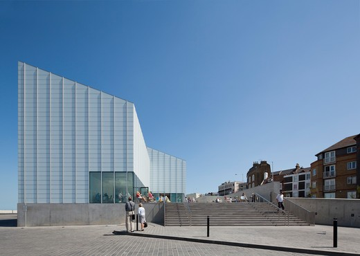 Stock Photo: 1801-58520 Turner Contemporary Art Gallery David Chipperfield Architects Margate Uk 2011 Straight On Wide Landscape View