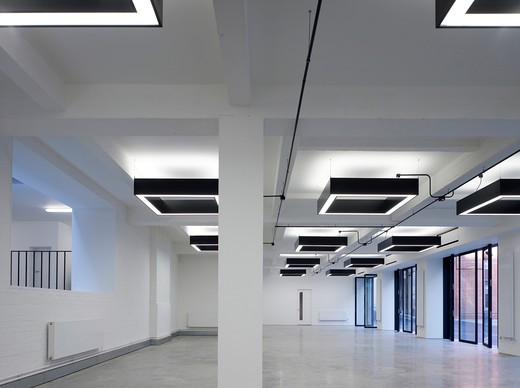 Maple  Office Area - A Project To Refurbish Two Existing Office Buildings  Conjoined. : Stock Photo