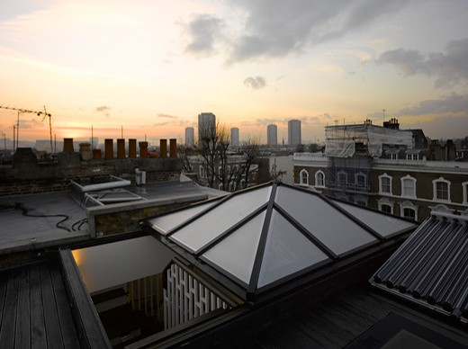 Stock Photo: 1801-59616 Notting Hill House  London- Ptp Architects 2011- Rooftop View