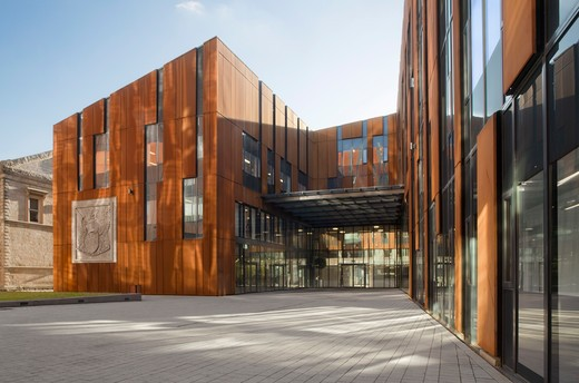 Stock Photo: 1801-60409 Broadcasting Place By Feilden Clegg Bradley Studios At Leeds Metropolitan University In Corten Steel