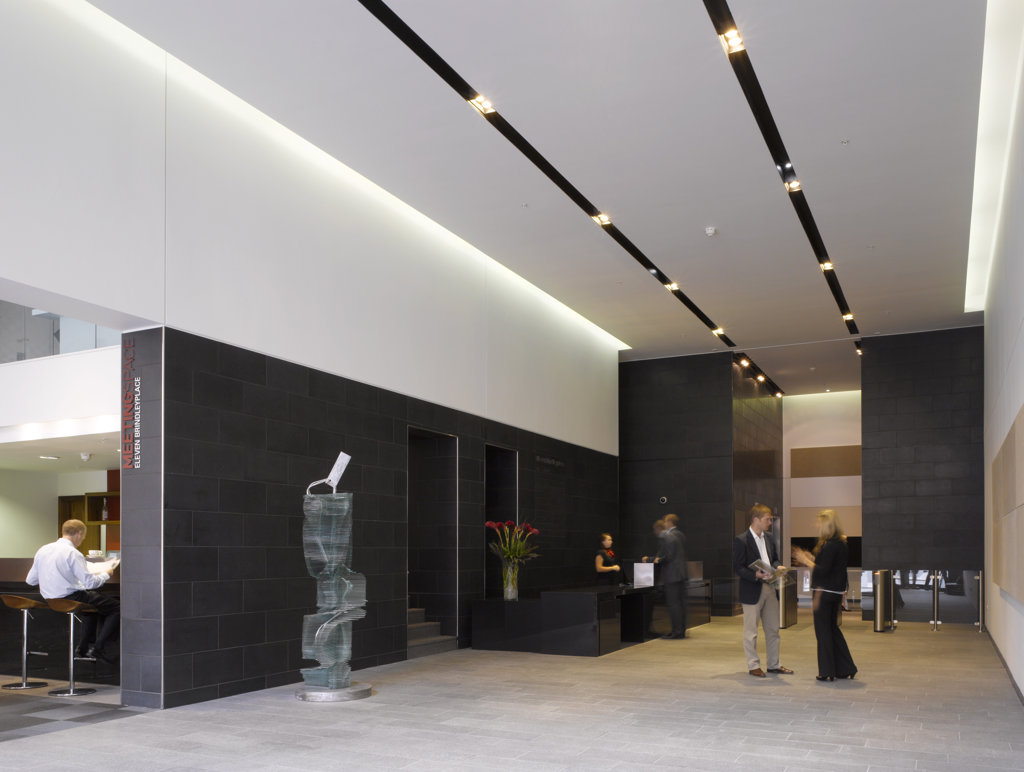 Stock Photo: 1801-61370 Eleven Bridleyplace  Glenn Howells Architects  Reception View