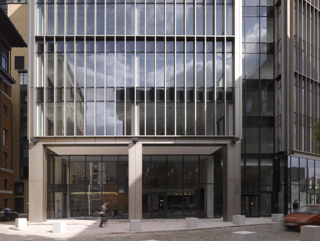 Eleven Bridleyplace  Glenn Howells Architects  Front Entrance View : Stock Photo