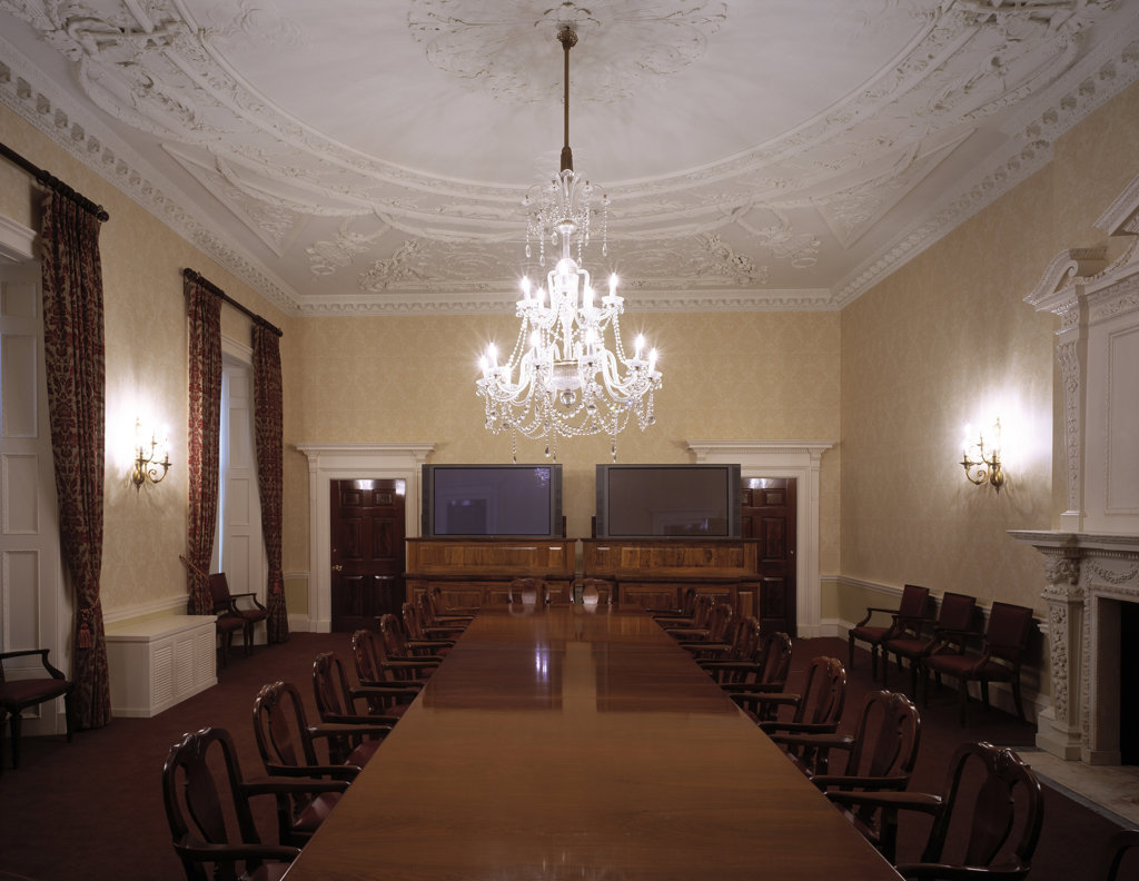 Stock Photo: 1801-61806 Ministry Of Defence - Mod Historic Meeting Room