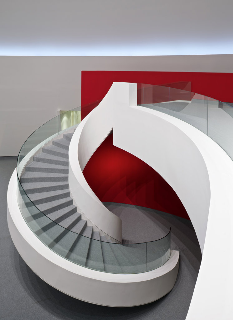 Niemeyer Center In Aviles  Spain  By Oscar Niemeyer. View Of Spiral Staircase : Stock Photo