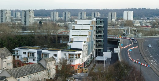 Stock Photo: 1801-63605 Thamesmead Estate  London  United Kingdom  Project 35 Architects  2009.