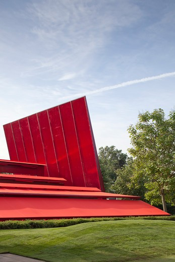 Stock Photo: 1801-64157 Serpentine Gallery Summer Pavilion 2010 Jean Nouvel With Arup Detail