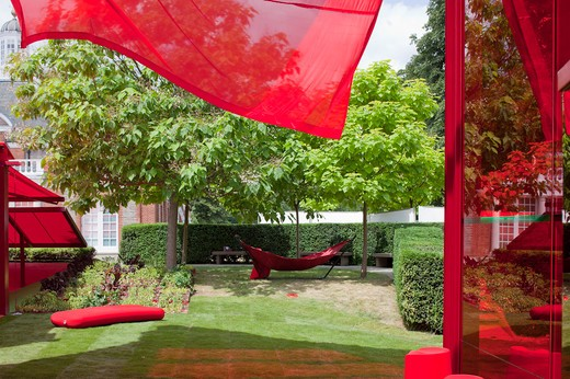 Stock Photo: 1801-64175 Serpentine Gallery Summer Pavilion 2010 Jean Nouvel With Arup Detail