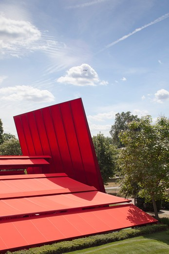 Stock Photo: 1801-64179 Serpentine Gallery Summer Pavilion 2010 Jean Nouvel With Arup Detail