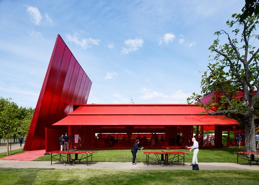 Stock Photo: 1801-64188 Serpentine Gallery Summer Pavilion 2010 Jean Nouvel With Arup